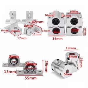 Image 3 - 15 stücke 400mm Optischen Achse Guide Lager Gehäuse Linear Schiene Welle Unterstützung Schrauben Set
