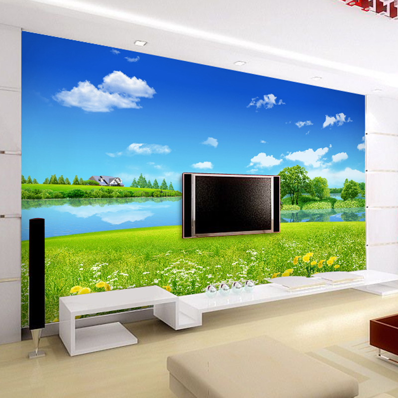 beibehang Pastoral Nature TV Custom wall paper roll papel de parede 3d photo TV background 3d mural wallpaper for walls 3 d custom 3d stereoscopic mural monroe marilyn head papel de pared european style wall paper roll restaurant place of entertainment
