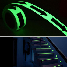 5cmx5m Glow Tape Self-adhesive Sticker Removable Luminous Fluorescent Glowing Dark Striking Warning