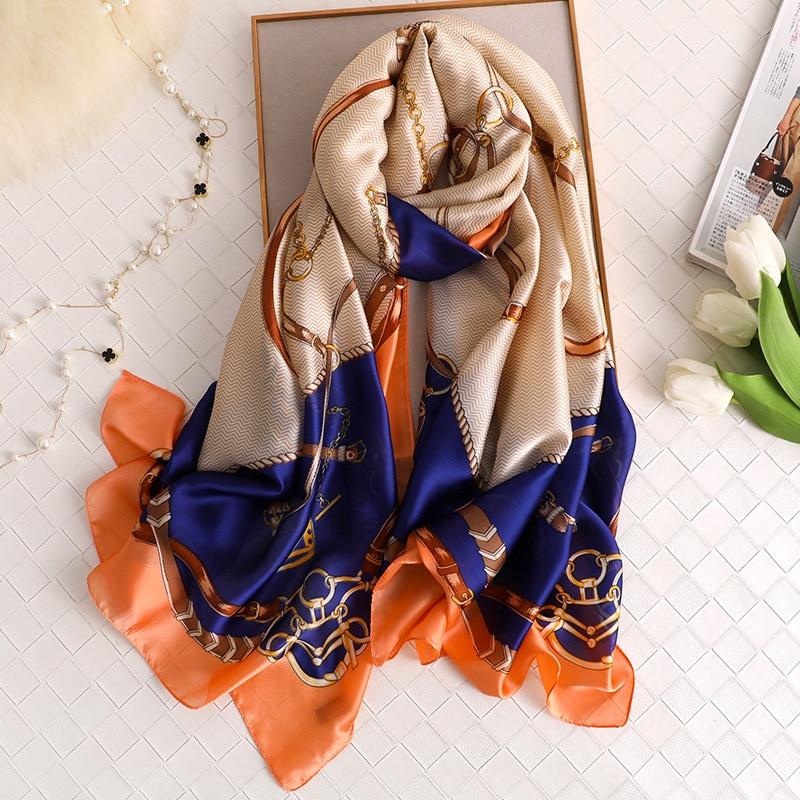 High Quality Silk Scarf Women 2020 Luxury Brand Designer Shawls And Wraps Soft Long Pashmina Ladies Foulard Bandana Hijab Femme