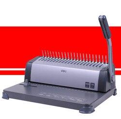 DELI 3872 Finanz Gutscheine Bindemaschine 21 Löcher Kamm Büro Punch Verbindliche Lieferungen