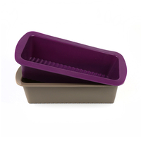 100 Silicone Large Rectangular Bread Cake Mold Ice Cream Pizza Chocolate Fruit Pie Mould Baking Dishes