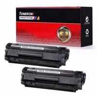 2pcs Lot Q2612A 2612A 12a 2612 Compatible Toner Cartridge For HP LJ 1010 1012 1015 1018