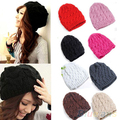Brand New Women's Winter Knit Crochet Knitting Wool Braided Baggy Beanie Ski Hat Cap