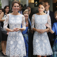 Sweetheart kate middleton dress lace novelty autumn luxury transparent kate vestidos knitted winter women dresses