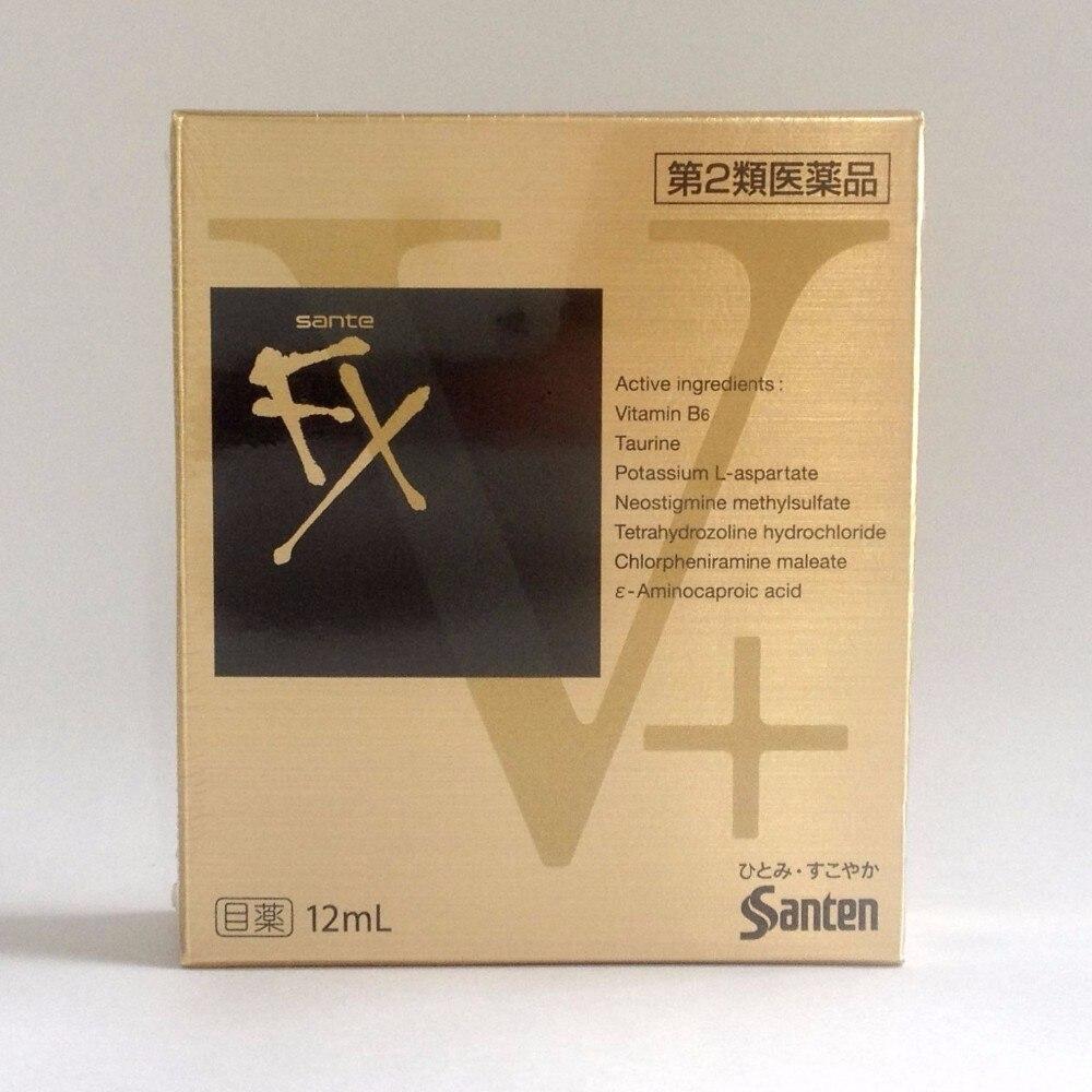Santen Sante FX V Plus Cool Eye Drops Made in Japan Eyedrops 12ml V HOT SALE