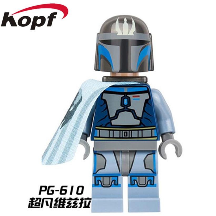 Building Blocks Space Wars Single Sale Darksaber Mandalorian Imperial Stormtrooper Soldiers Dolls Bricks Kids Toys Gift PG610