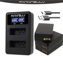 3 Pcs LP-E12 LPE12 LP E12 True capaci Battery + LCD USB Charger for Canon EOX-M M2 M10 M50 M100 100D Kiss X7 SX70 Rebel SL1 DSLR