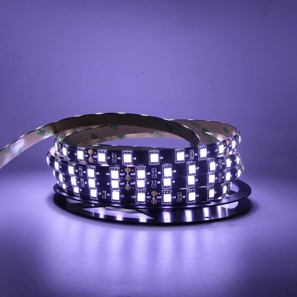 1 M 2 M 3 M 5 M Lampu LED Strip RGB RGBW Rgbww Putih 5050 SMD Lampu LED Tahan Air hitam PCB Pita LED Lampu untuk TV PC Cahaya Latar Belakang