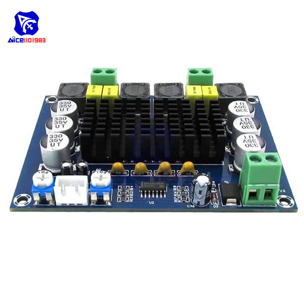Image 3 - TPA3116D2 TPA3116 Dual Channel Stereo High Power Digital Audio Power Amplifier Board 120W+120W Amplificador Module XH M543-in Integrated Circuits from Electronic Components & Supplies