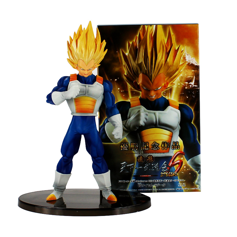 1pc New Arrival Dragon Ball Z Vegeta Cartoon Color Vision Big Budoukai 6 Super Vegeta PVC Action Figure Toys