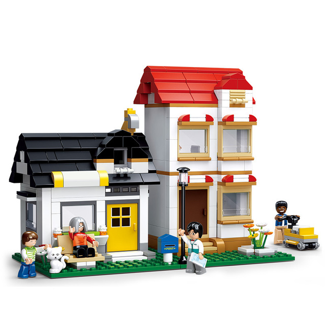 Models Building Toy 0573 City Simcity Apartment Double Villas 431pcs Blocks Compatible With Lego Toys Hobbies