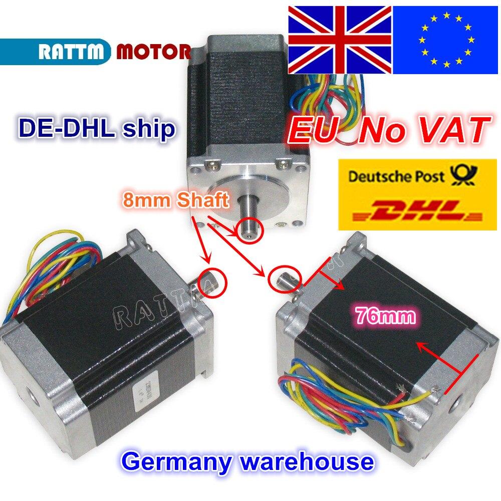 EU ship free VAT 3PCS NEMA23 23HS8430 76mm 270Oz in 1 8N m 3A stepper motor
