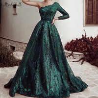 modabelle Dark Green Sequins Lace Evening Dresses Vestidos De Novia Arabic Evening Gowns Dresses Abiye Gece Elbisesi 2019