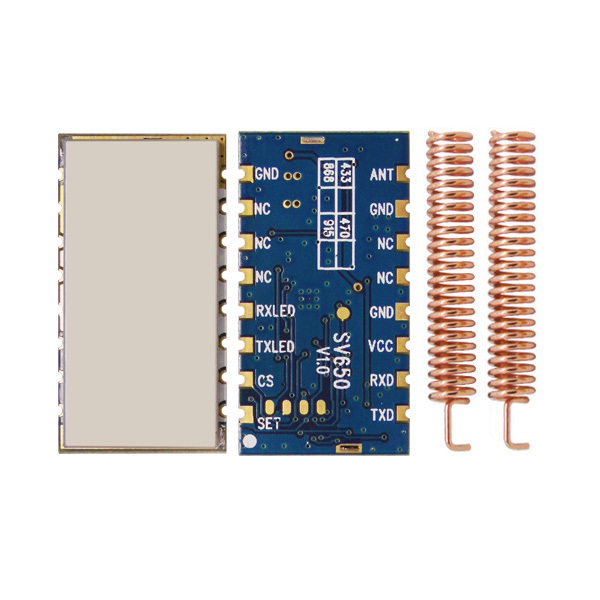 1 buc / lot SV650 433MHz RS485 Modul de transceiver wireless RF 500mW Si4432 încorporat