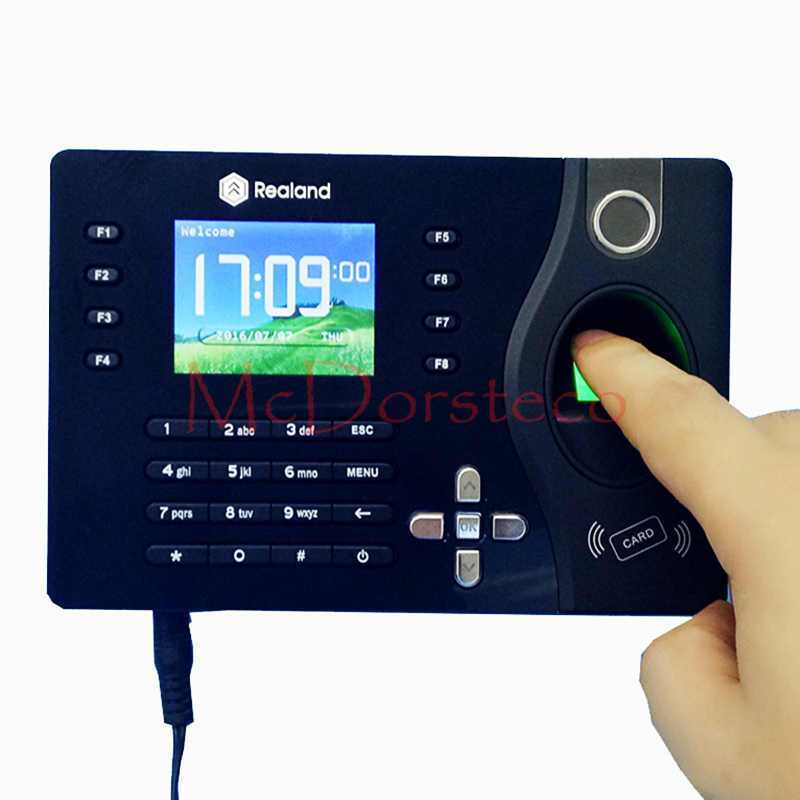 A-C081 TCP/IP Biometric Fingerprint Time Clock Recorder Attendance Employee Electronic Time Recording Device