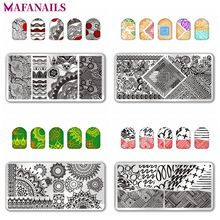 1 Pc Nail Stamping Plates Rectangle StampTemplate Flower Geometry Pattern DIY Stamp 12*6cm Tools SPV0130