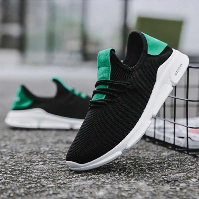 Vertvie الرجال خفيفة الوزن الرياضة احذية الجري الذكور تنفس شبكة أحذية رياضية المطاط في الهواء الطلق السفر المشي أحذية تدريب الصيف