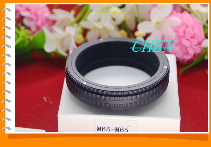 Objectif M65 à M65 adaptateur de bague hélicoïdale à mise au point réglable 17-31mm Tube d'extension Macro M65-M65