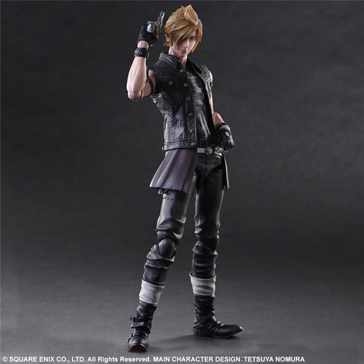 Final Fantasy Action Figure Prompto Play Arts Kai PVC Toy 25cm Anime Movie Game Model Final Fantasy XV Playarts Kai Prompto 48 led ir infrared illuminator bulb board for cctv security camera