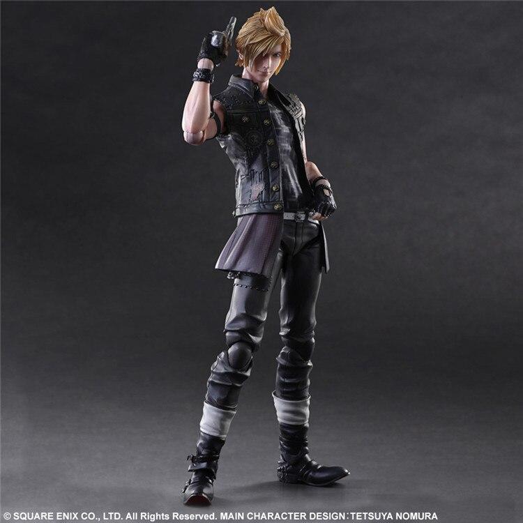 Final Fantasy Action Figure Prompto Play Arts Kai PVC Toy 25cm Anime Movie Game Model Final Fantasy XV Playarts Kai Prompto