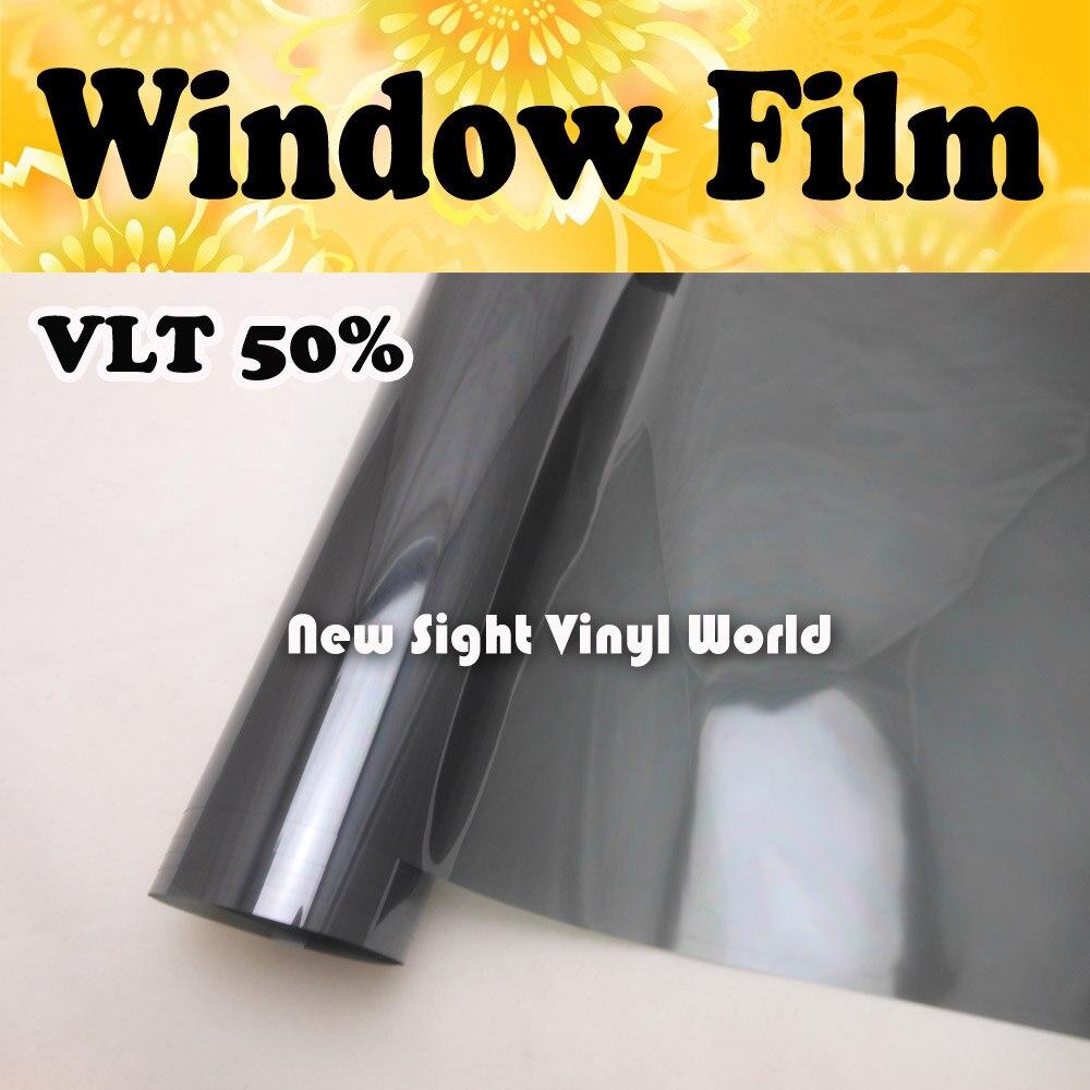 VLT 50% fenêtre Film voiture fenêtre teinte voiture fenêtre vinyle taille: 1.52*30 m/Roll