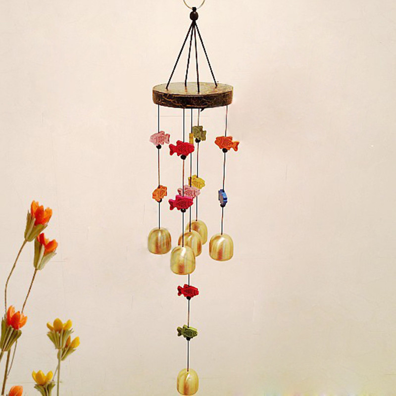 Bon Magic Fish Wind Bell Chinese Chime Blessing Good Luck Hanging Door Garden  Home Decor Classic Vintage Handmade 6 Pendant Bell On Aliexpress.com    Alibaba ...