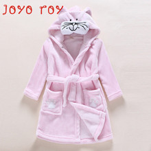 Joyo roy Children's Bathrobe Flannel Animal Shape Cartoon Infant Child Home Service Robe Baby Bathrobe Home Service FF136R
