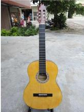 """High quality 39"""" Acoustic Classical guitar wood color guitarra Musical Instruments with guitar strings"""