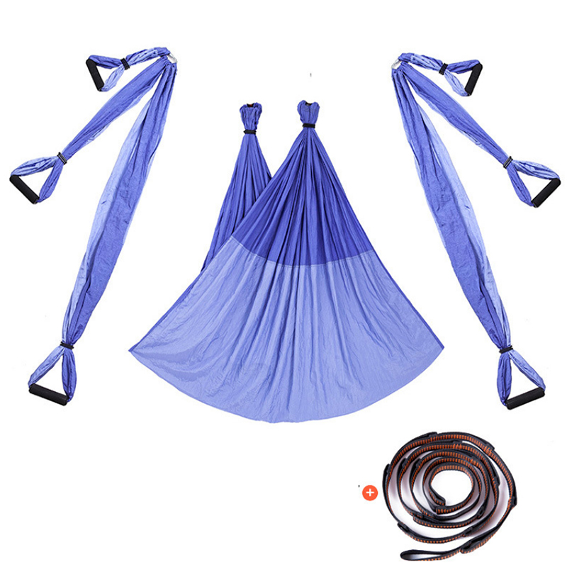 15 colors Aerial Flying Anti-gravity Yoga hammock set with extension tape Swing Yoga body building workout fitness equipment relefree 14 colors aerial flying anti gravity yoga hammock swing yoga body building workout fitness inversion tool freedrop