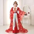 Женщины Китайский Принцесса Танца Костюм Женский У Zetian Хвостохранилища Cosply Платье Китайский Традиционный Костюм Народный Танец Cloting 89