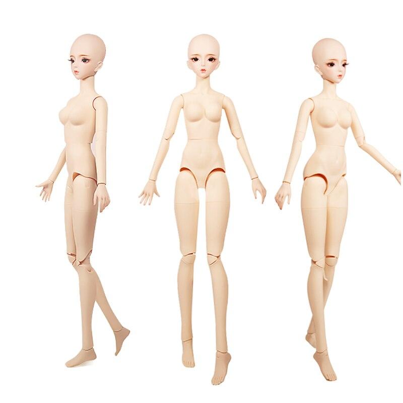 1/3 bjd 62cm corpo comum boneca pele branca blad cabeça com/sem maquiagem, ai yosd msd sd kit brinquedo presente do bebê dc