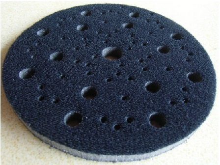 6 дюймов мягкий интерфейс диск Pad крюк и петля мм 150x7 мм пыли губка демпфирования Pad несколько отверстий подложки коврики уменьшить давление