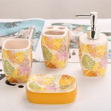 Ceramics Soap Dispenser Cosmetics Bottles Bathroom Hand Sanitizer