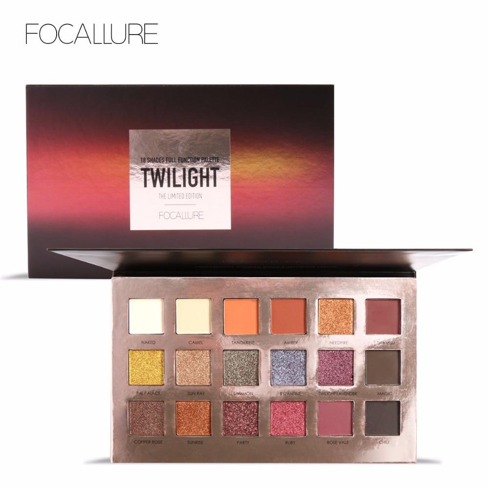 FOCALLURE Fashion Twilight 18 Colors Glitter Matallic Eyeshadow Palette Matte Shimmer Eye Shadow Makeup Set for Beauty Drop Ship