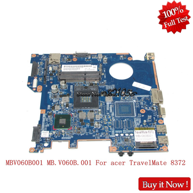 Nokotion Laptop Motherboard A02 6050A2341701 MBV060B001 MB.V060B.001 For acer TravelMate <font><b>8372</b></font> PC Mainboard HM55 Full Tested image