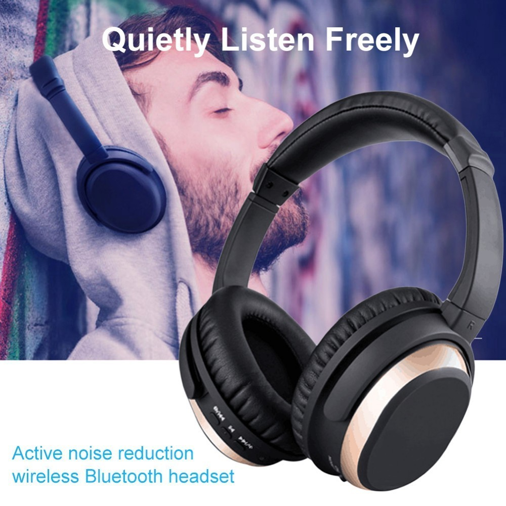 BH519 ANC Multifunctional Active Noise Reduction Headphones Bluetooth 4.0 Wireless Over-ear Type Headset High Fidelity Stereo lobkin active anc headphones bluetooth over ear headphone build in mic for iphone silver