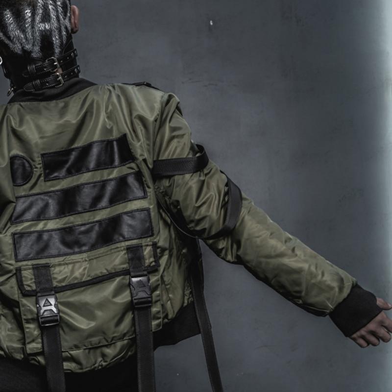 NEW black street Hiphop Military Outerwear Jacket US Army MA1 BOMBER Jackets Men Winter Warm Motorcycle Epaulet Coat
