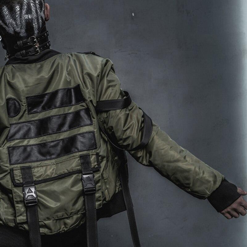 Nouveau noir rue Hiphop militaire veste d'extérieur US armée MA1 BOMBER vestes hommes hiver chaud moto Epaulet manteau