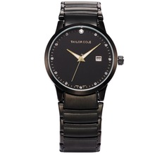 Luxury Brand Taylor Cole Black Stainless Steel Band Date Relogio Feminino Women Fashion Watches Echo Lady