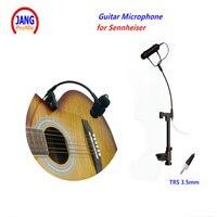 Professional Guitar Microphone Condenser Instrument Bass Microfone for Sennheiser Wireless Mic System 3.5mm Screw Jack Mikrofon