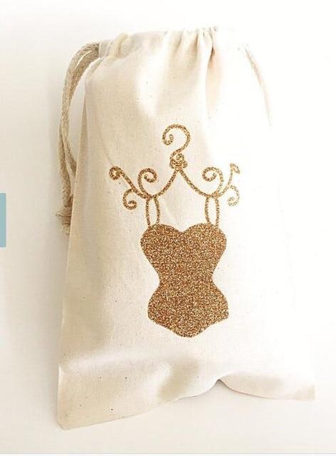 Custom Ooh La Champagne Party Wedding Hangover Kit Jewelry Favor Muslin Bags Bachelorette Hen Bridal Shower Favors In Gift Wring