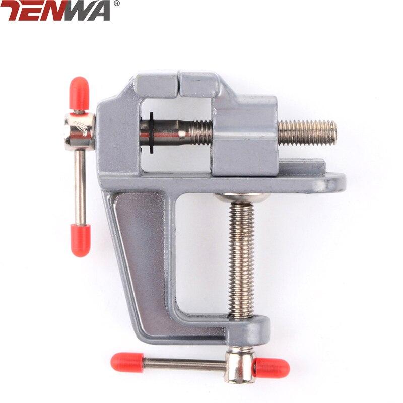 TENWA Aluminium Table Clamp with Mini Vise Mini Vice for Jewellers/hobbyists/Crafts/model building Tenwa Tools TA0007