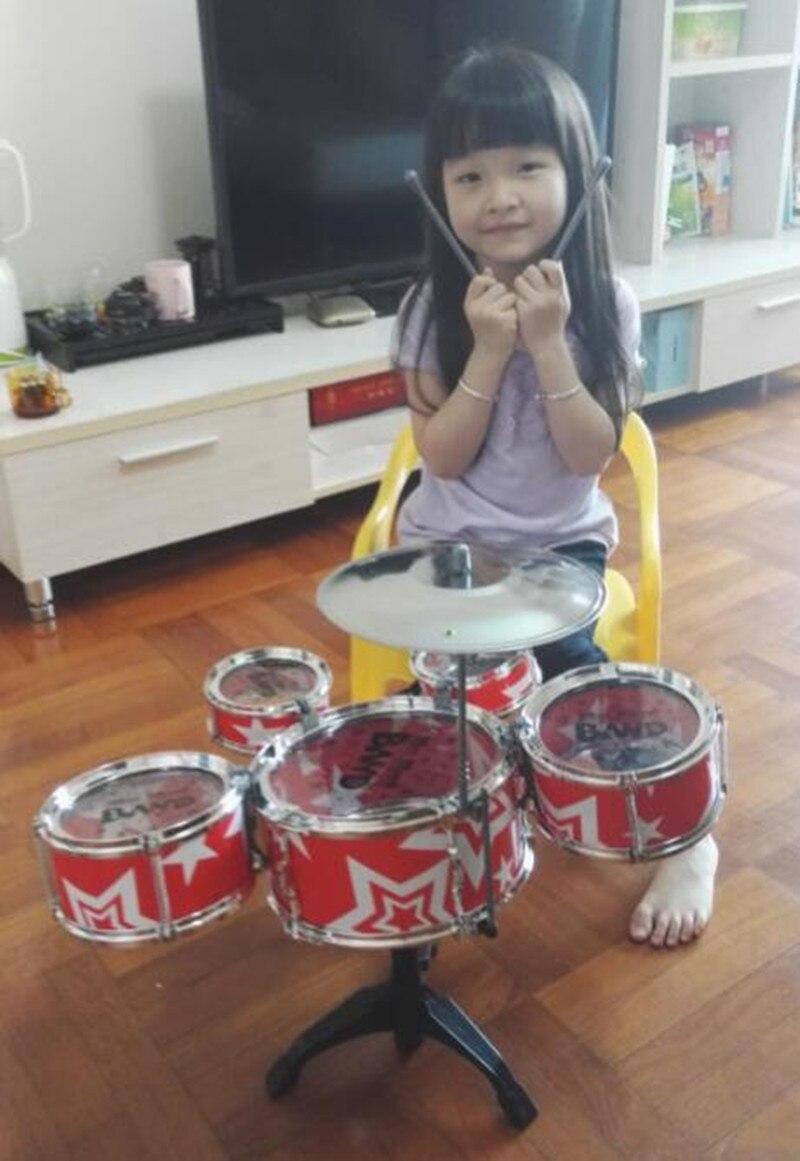 Vaikų dideli perkusiniai muzikiniai instrumentai džiazo būgnai, - Mokymasis ir ugdymas