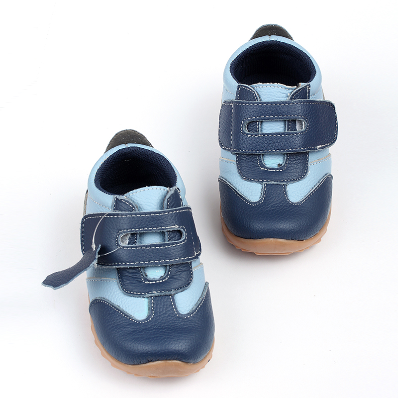 Leder Baby Turnschuhe Casual Babyschuhe Blau Kleinkind Kinder Schuhe - Babyschuhe - Foto 2