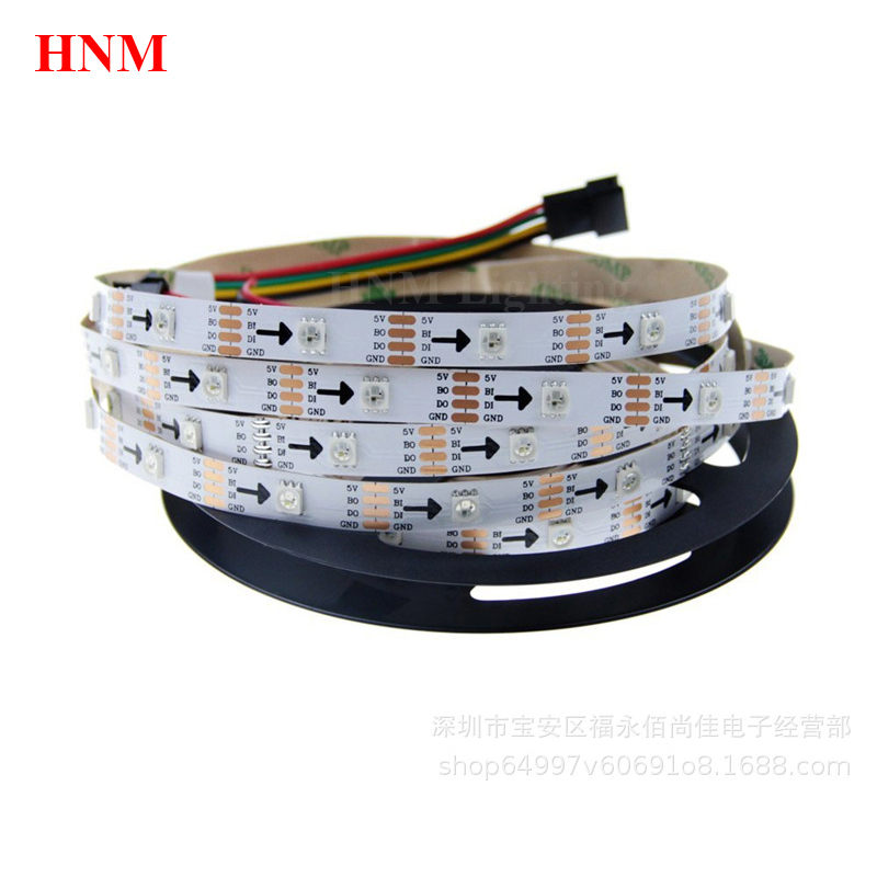 2 M/5 M 30/60/72/144LED s/m Pixel RGB intelligent WS2813 LED bande lumineuse 5V 5050 SMD Ambilight tv LED bande blanche/noire PCB IP20/IP65/IP67