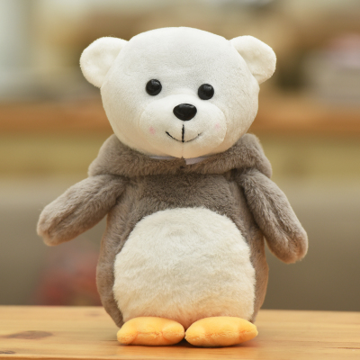 new creative plush gray bear toy stuffed penguin bear doll gift toy about 30cm