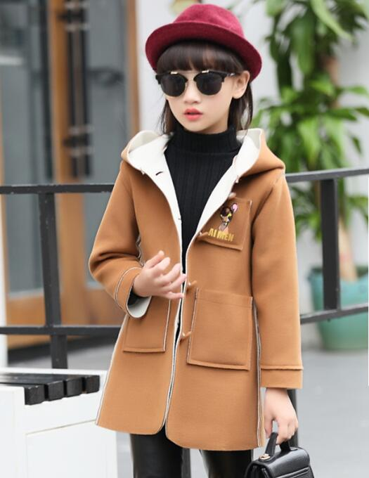 2016 winter children s clothes girls coats slim deers thicken hooded font b baby b font