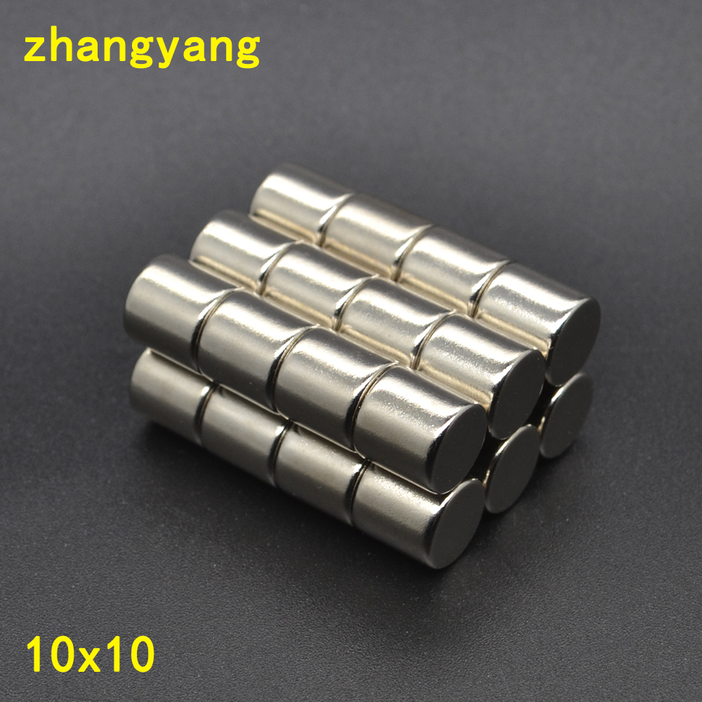 30/50/100pcs 10x10 Mm Neodymium Magnet 10mm*10mm Neodymium Magnets 10*10mm NdFeB Permanent Round Strong Rare Earth Magnets