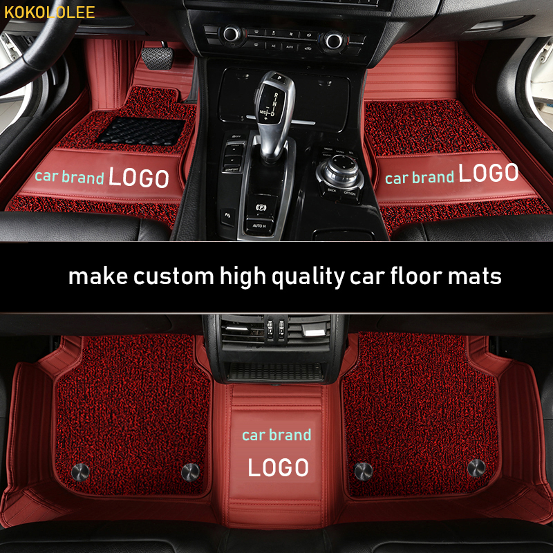 kokololee custom car floor mat for SKODA LOGO SKODA Yeti Octavia Superb Fabia Rapid Spaceback Kodiaq